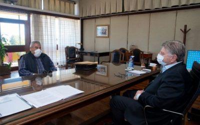 El gobernador Sergio Ziliotto recibió a Luis Fredes
