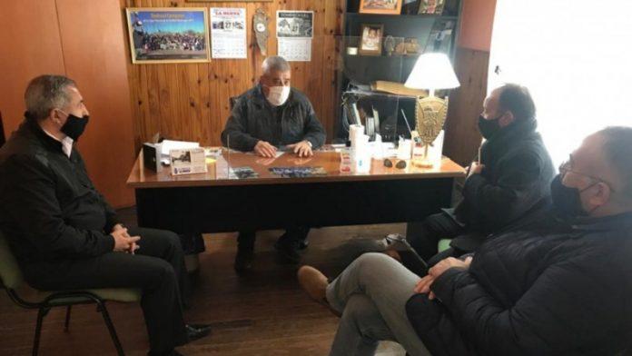El ministro de Seguridad y el jefe de Policía se reunieron con Luis Fredes